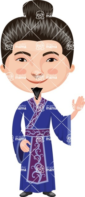 Asian People Vector Cartoon Graphics Maker - Chinese Master