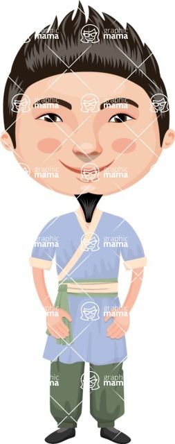 Asian People Vector Cartoon Graphics Maker - Chinese Boy