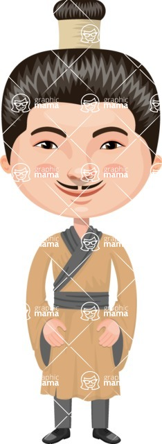 Asian People Vector Cartoon Graphics Maker - Chinese Man