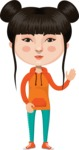 Asian People Vector Cartoon Graphics Maker - Casual Chinese Girl