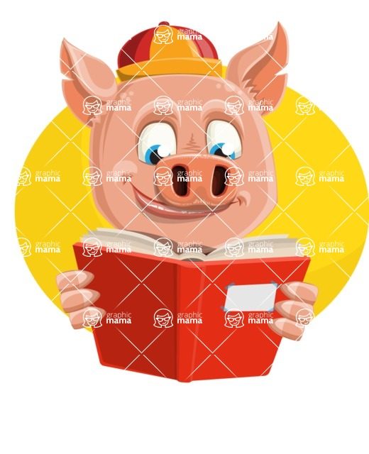 Year of the Pig Character - Vector Pig Cartoon - Shape 3