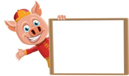 Year of the Pig Character - Vector Pig Cartoon - Presentation 5