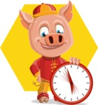 Year of the Pig Character - Vector Pig Cartoon - Shape 6