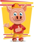 Year of the Pig Character - Vector Pig Cartoon - Shape 11