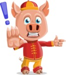 Year of the Pig Character - Vector Pig Cartoon - DirectAttention 2