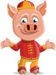 Year of the Pig Character - Vector Pig Cartoon - Sorry