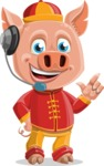 Year of the Pig Character - Vector Pig Cartoon - Year of the Pig Vector Character Support