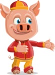 Year of the Pig Character - Vector Pig Cartoon - Showcase