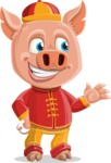 Year of the Pig Character - Vector Pig Cartoon - Showcase 2