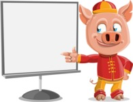 Year of the Pig Character - Vector Pig Cartoon - Presentation 2