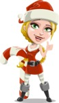 Cute Christmas Girl Cartoon Vector Character - With Candy Cane