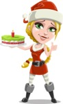 Mary Mistletoe - With Cake