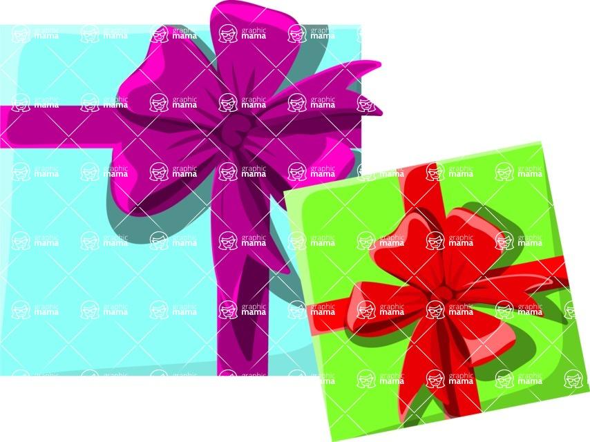 Christmas Vectors - Mega Bundle - Beautiful Gift Boxes