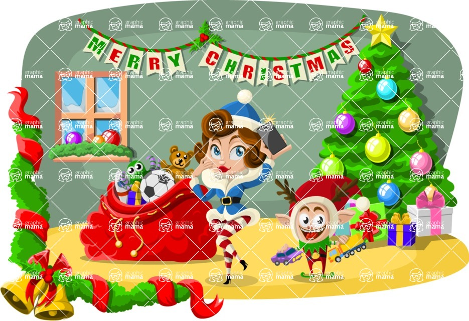 Christmas Vectors - Mega Bundle - By the Christmas Tree