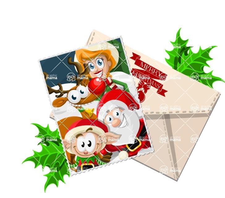 Christmas Vectors - Mega Bundle - Christmas Card and Envelope