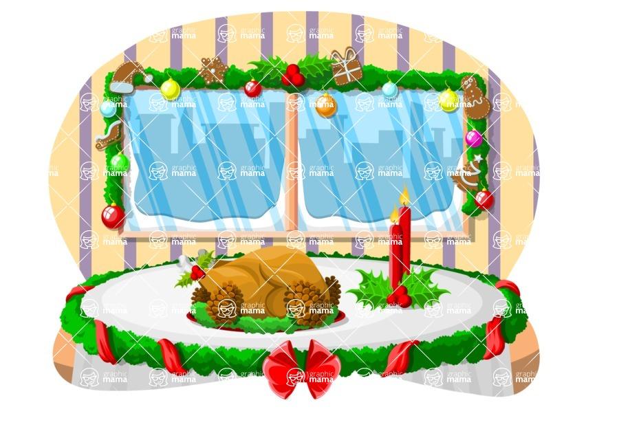 Christmas Vectors - Mega Bundle - Christmas Dinner Table