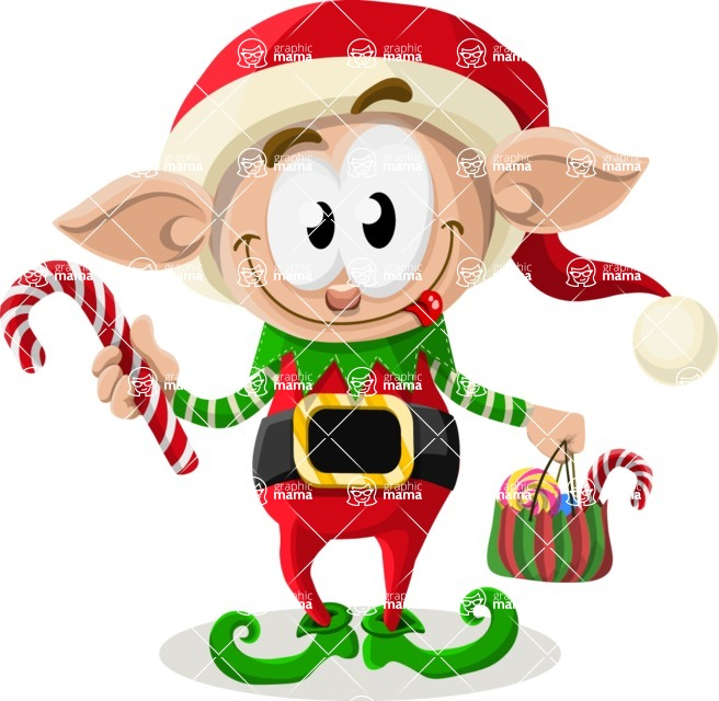 Christmas Vectors - Mega Bundle - Christmas Elf 3