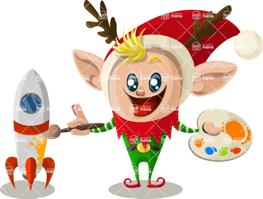 Christmas Vectors - Mega Bundle - Christmas Elf 6