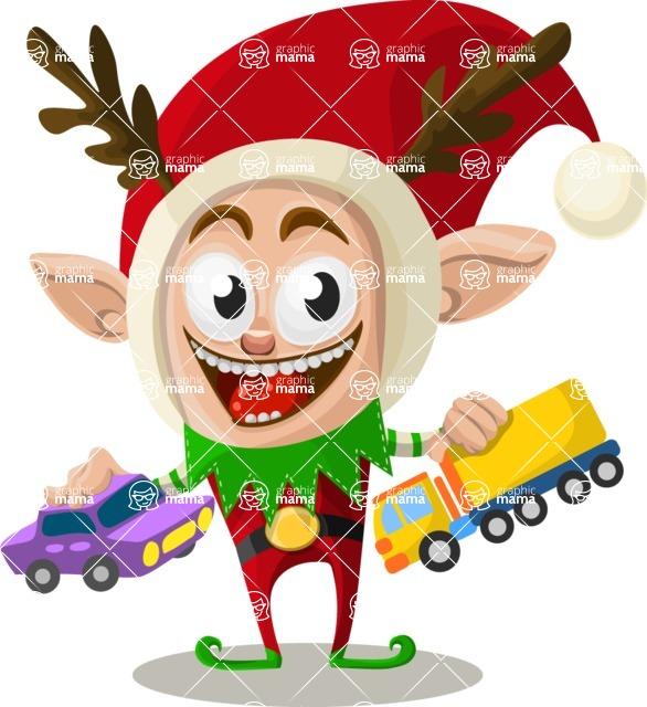 Christmas Vectors - Mega Bundle - Christmas Elf 7