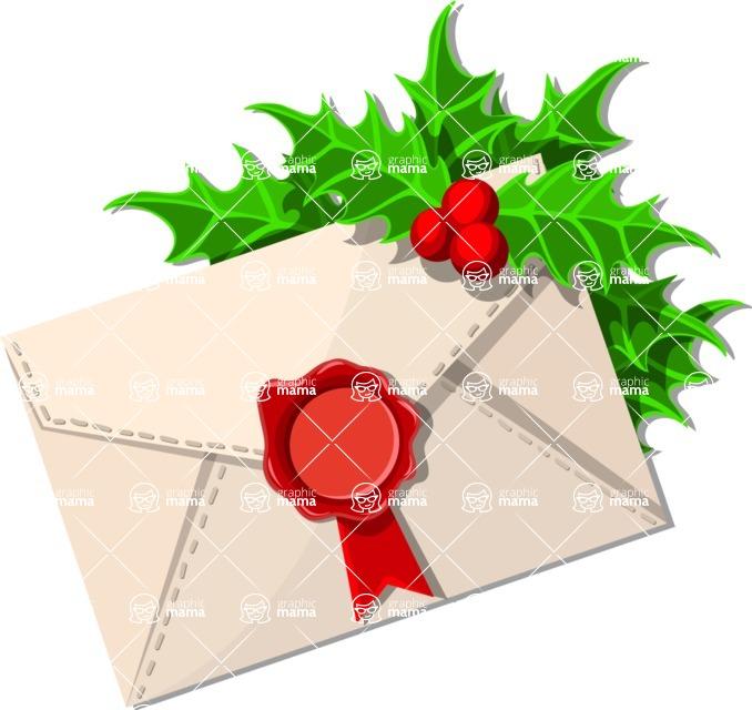 Christmas Vectors - Mega Bundle - Christmas Envelope