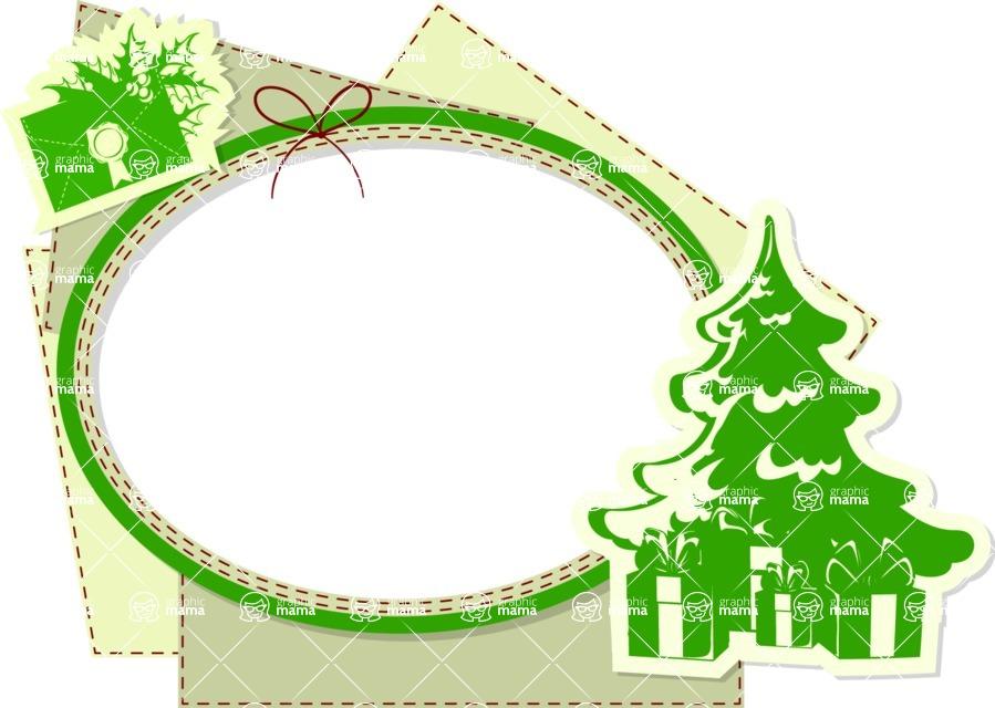Christmas Vectors - Mega Bundle - Christmas Frame 11