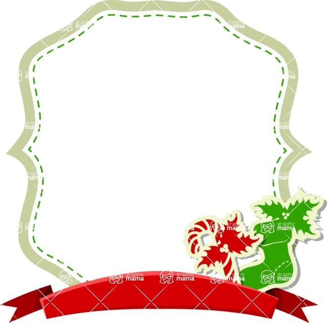 Christmas Vectors - Mega Bundle - Christmas Frame 15
