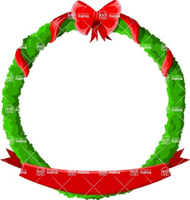 Christmas Vectors - Mega Bundle - Christmas Frame 17
