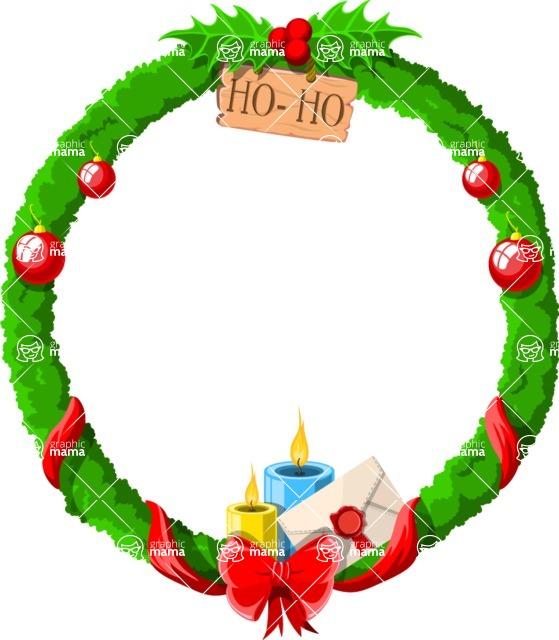 Christmas Vectors - Mega Bundle - Christmas Frame 2