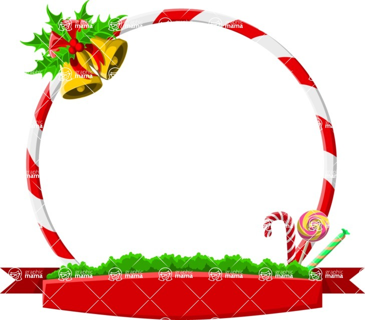 Christmas Vectors - Mega Bundle - Christmas Frame 4