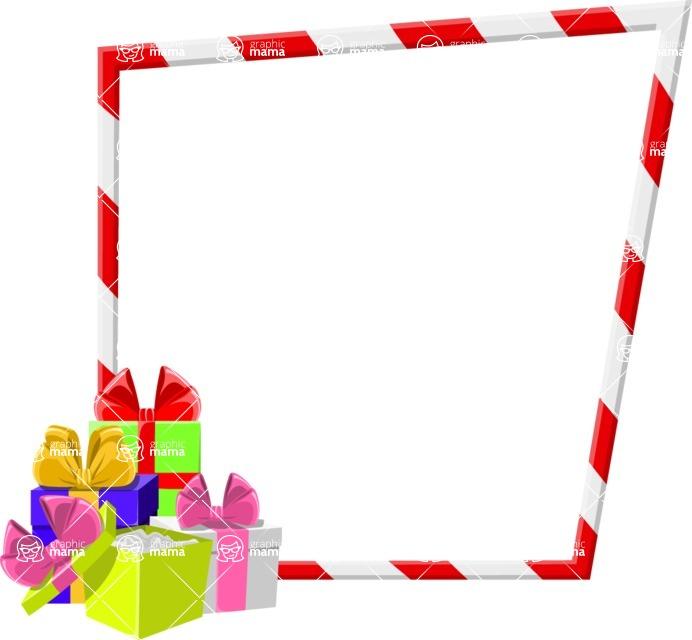 Christmas Vectors - Mega Bundle - Christmas Frame 6