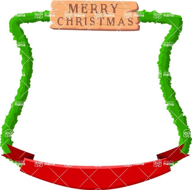 Christmas Vectors - Mega Bundle - Christmas Frame 8