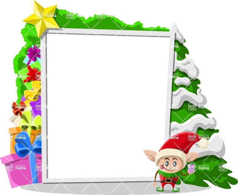 Christmas Vectors - Mega Bundle - Christmas Frame 9