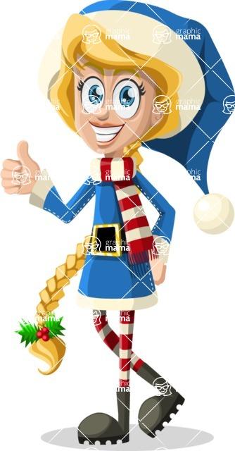 Christmas Vectors - Mega Bundle - Christmas Girl 1