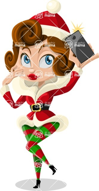 Christmas Vectors - Mega Bundle - Christmas Girl 2