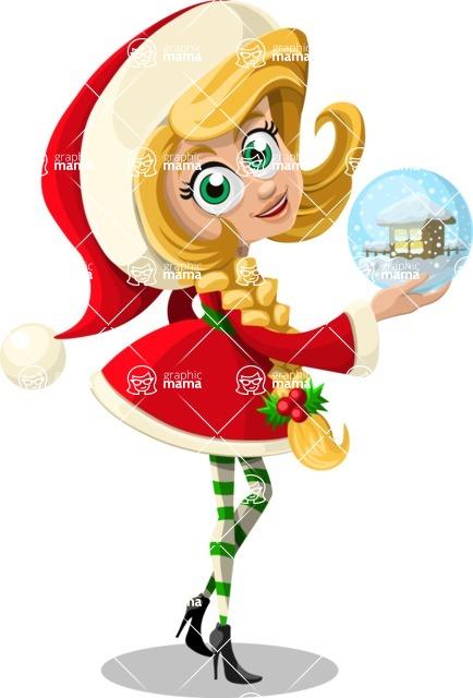 Christmas Vectors - Mega Bundle - Christmas Girl 6