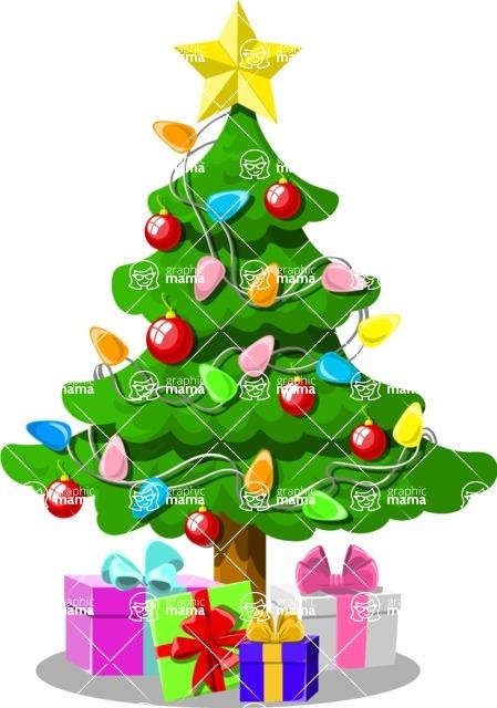 Christmas Vectors - Mega Bundle - Christmas Tree With Gifts