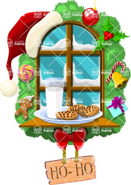 Christmas Vectors - Mega Bundle - Christmas Window
