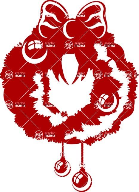 Christmas Vectors - Mega Bundle - Christmas Wreath Silhouette