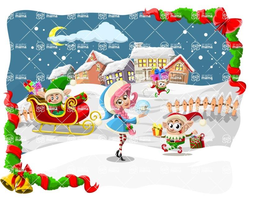 Christmas Vectors - Mega Bundle - Elves at the North Pole