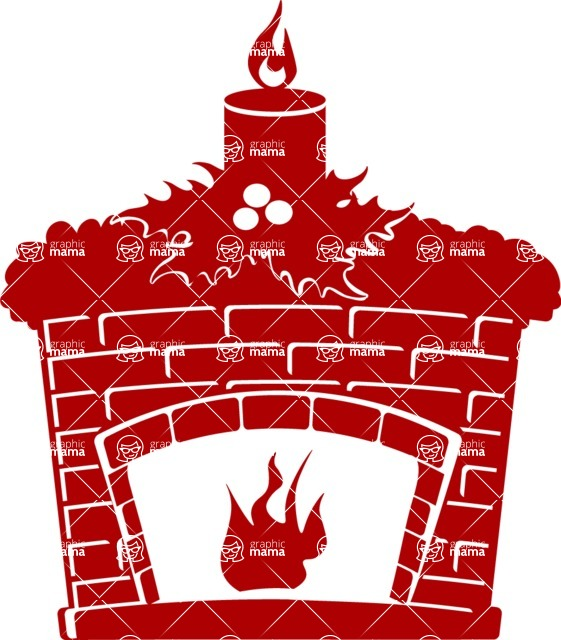 Christmas Vectors - Mega Bundle - Fireplace Silhouette