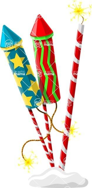 Christmas Vectors - Mega Bundle - Firework Rockets