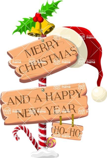 Christmas Vectors - Mega Bundle - Happy Holidays Sign