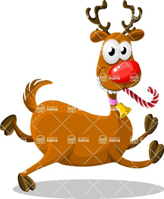 Christmas Vectors - Mega Bundle - Reindeer Rudolph 3