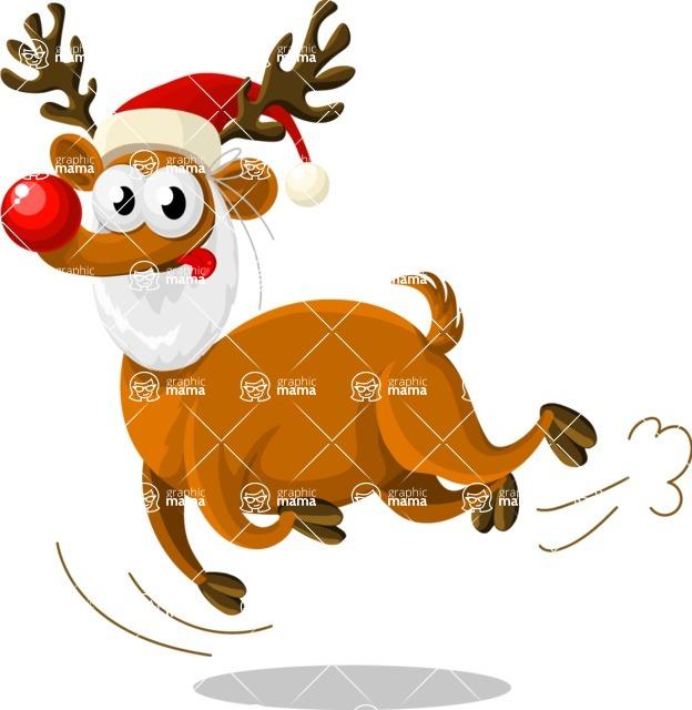 Christmas Vectors - Mega Bundle - Reindeer Rudolph 5