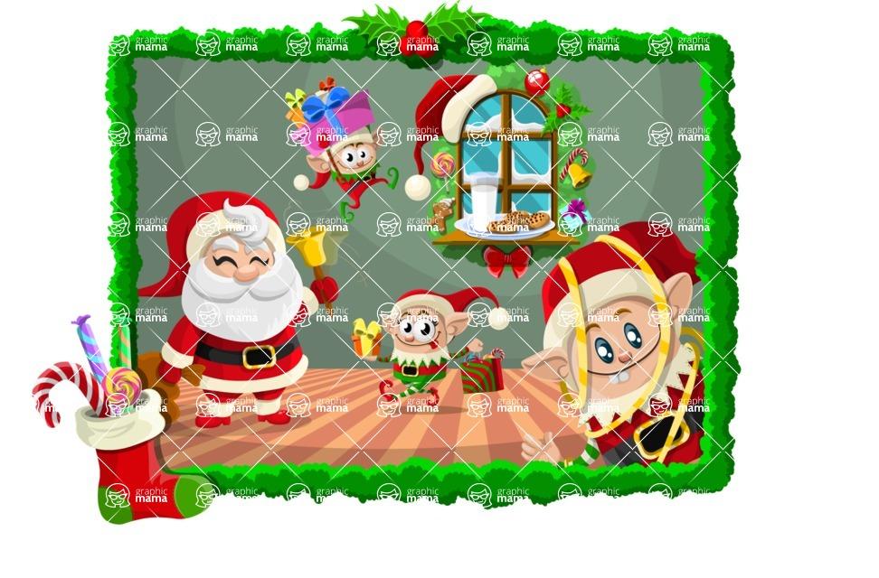 Christmas Vectors - Mega Bundle - Santa and Elves Illustration