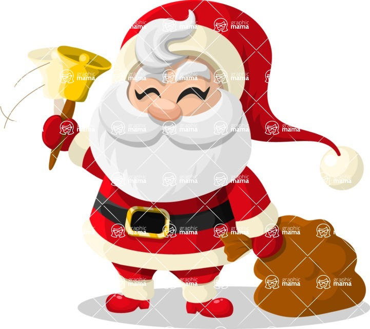 Christmas Vectors - Mega Bundle - Santa Claus 3