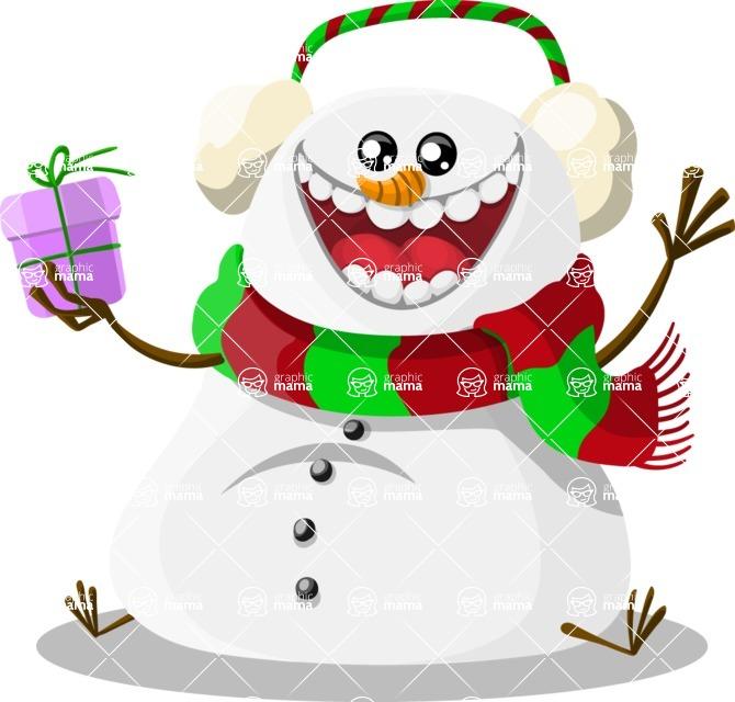 Christmas Vectors - Mega Bundle - Snowman 1