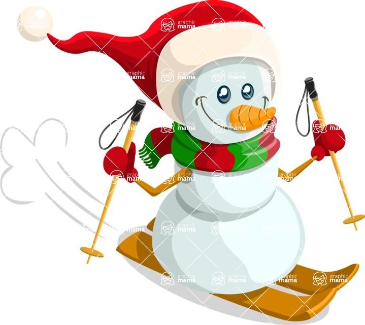 Christmas Vectors - Mega Bundle - Snowman 3