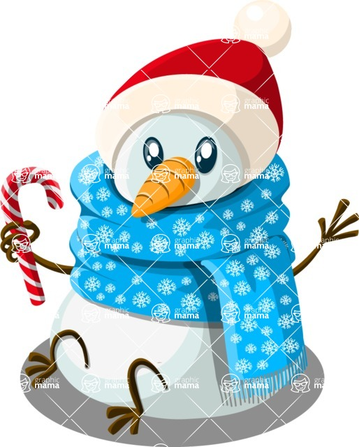 Christmas Vectors - Mega Bundle - Snowman 4