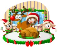 Christmas Vectors - Mega Bundle - At the Christmas Table